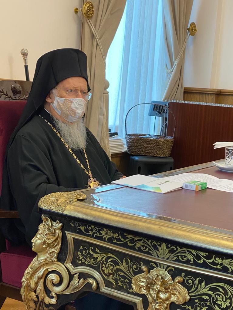 Патриарх Варфоломей и Амиксин